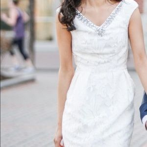 Ted Baker -White Lace Dress with Jewel Detail